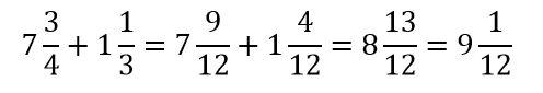 Suma números mixtos