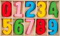 Colorful wooden Number Set